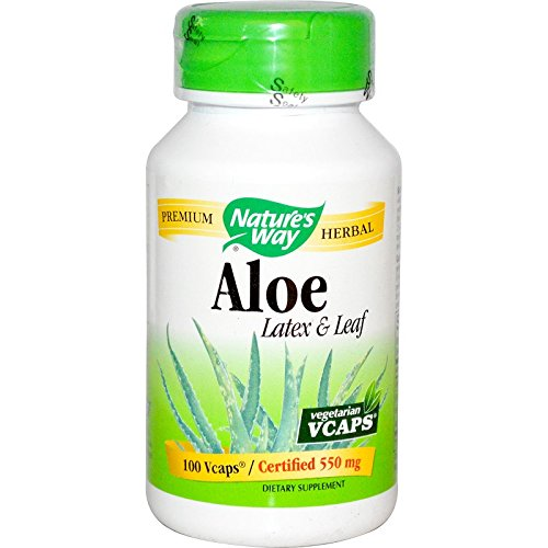 Nature's Way Aloe Vera Latex with Fennel, 140 Milligram,100 Vcaps. Pack of 2 bottles