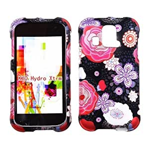 2D Japanese Flowers Kyocera Hydro XTRM C6721 U.S.Cellular Case Cover Hard Case Snap-on Cases Rubberized Touch Protector Faceplates