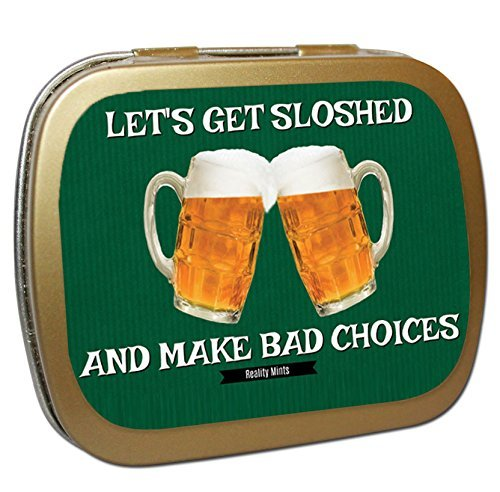 Let's Get Sloshed Mints – Unique Beer Gifts for Beer Lovers White Elephant Ideas Candy Gifts for Adults Wintergreen Breath Mints Stock Stuffers Funny Friend Gift 21st Birthday Gift