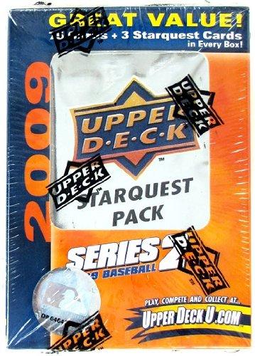2009 Upper Deck Series 2 MLB Baseball Factory Sealed Superstar Jumbo Box with Bonus Super Star Foil - 2 Series Sealed Case Factory