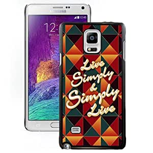Beautiful Custom Designed Cover Case For Samsung Galaxy Note 4 N910A N910T N910P N910V N910R4 With Live Simple Simply Live Phone Case