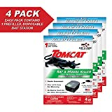 Tomcat Rat & Mouse Killer Child & Dog Resistant, Pack of 4 Disposable Stations
