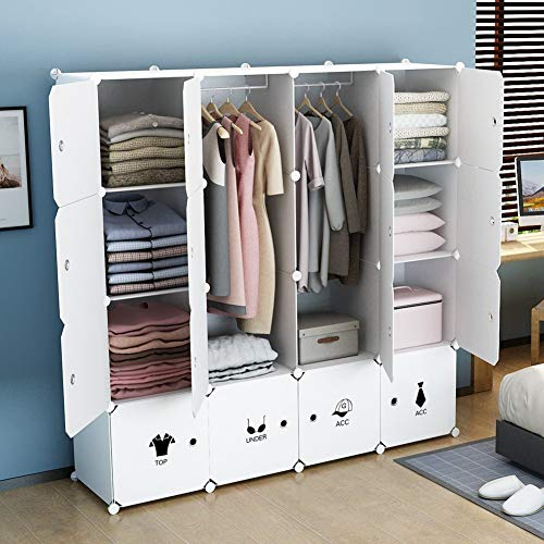 kousi portable clothes closet wardrobe bedroom armoire dresser cube storage organizer capacious. Black Bedroom Furniture Sets. Home Design Ideas