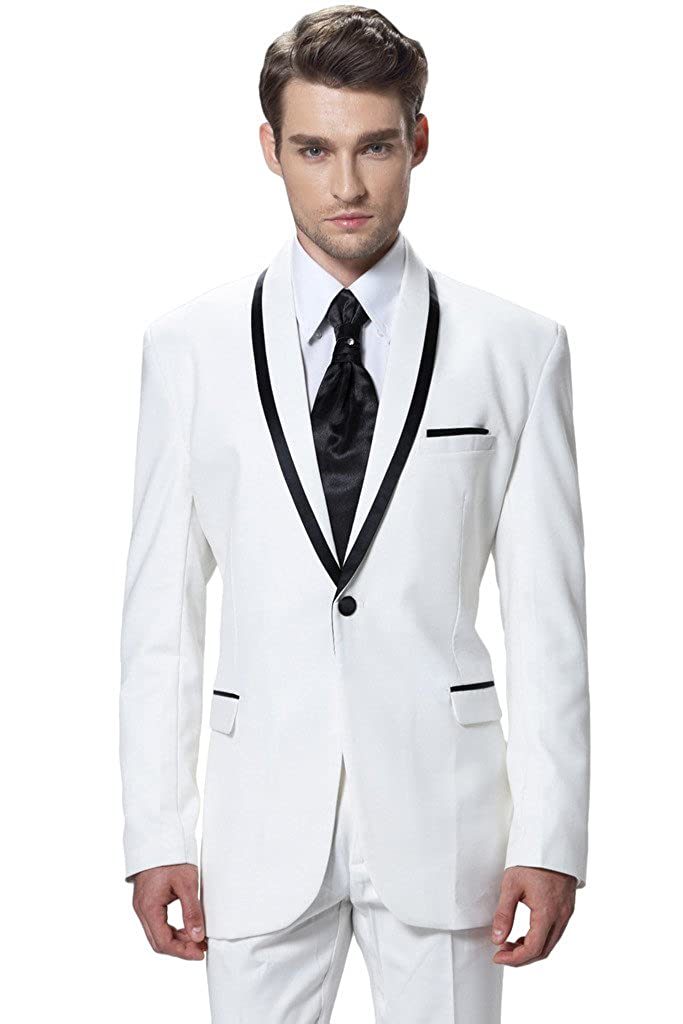 Hanayome Men's Two-Piece Side-Vent Modern-Fit Weddiong Party Suit U14