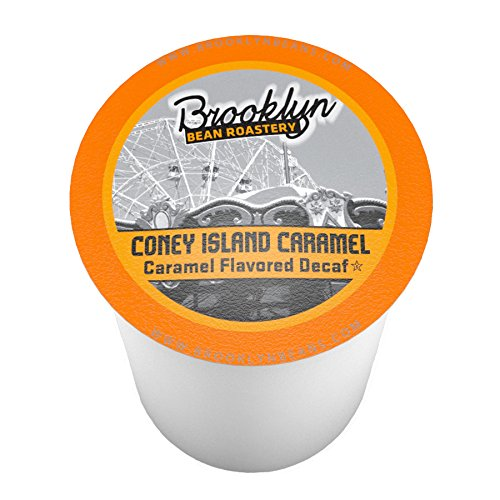 Bean Pods (Brooklyn Beans Coney Island Caramel Decaf Single-Cup Coffee for Keurig K-Cup Brewers, 40 Count)