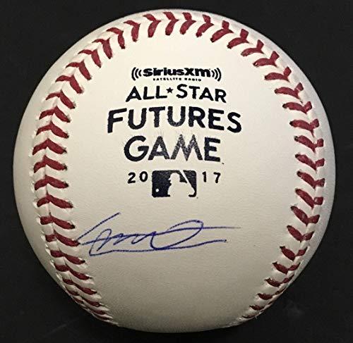 Guerrero Baseball Signed - Vladimir Guerrero Jr signed Futures game baseball Blue Jays Rookie auto JSA COA