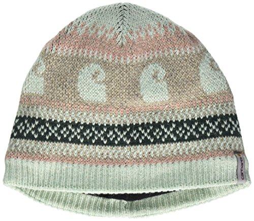 Carhartt Women's Springvale Knit Logo Hat, Aqua/Gray Heather, One Size