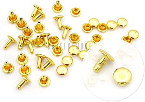Anti-rust making asscessories Leather craft tools MLT- P00000RY diameter 30set and brass metal Studs 10mm Double sided rivet