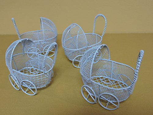 wire baby carriage centerpiece - 3