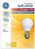 GE Lighting 70284 White Soft Long Life 72-Watt