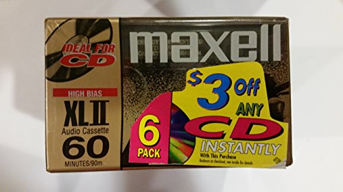 Maxell XLII 60 minute cassettes (6 pack)