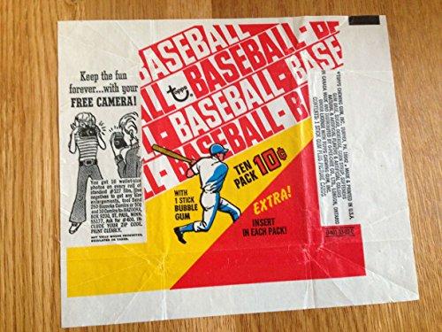 TOPPS 1970 BASEBALL BUBBLE GUM & TRADING CARD WRAPPER NICE GRADE