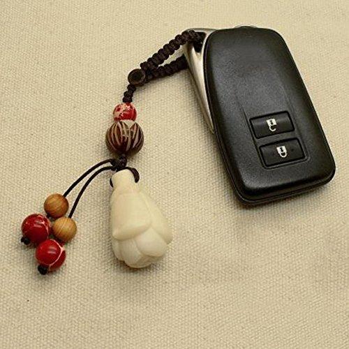 GH Auto Schlüsselanhänger Weinlese Handweberei Handtasche Anhänger Autoschlüssel Zubehör 10.5Cm CmSWQMt