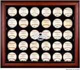 Milwaukee Brewers Framed 30-Ball Logo Display Case