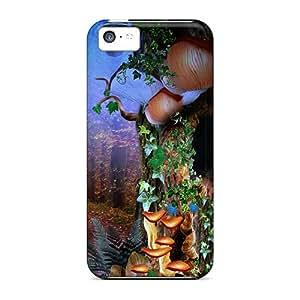 Tpu Shockproof/dirt-proof âÅ°blue ForestâÅ° Cover Case For Iphone(5c)