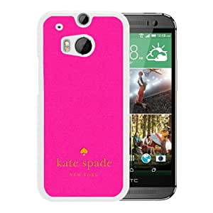 Attractive HTC ONE M8 Phone Case Design with Kate Spade 47 White Case