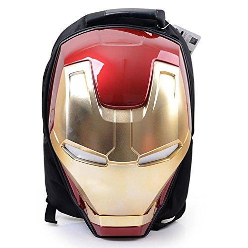 Marvel 3D Hardshell Backpack (Iron Man (LED Light)) by Mtime (Image #1)