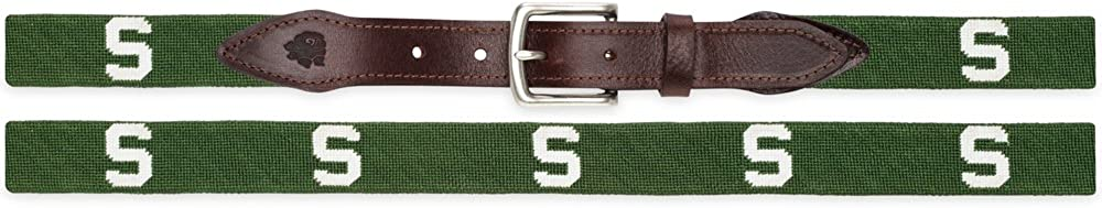 MSU Block S Needlepoint Belt