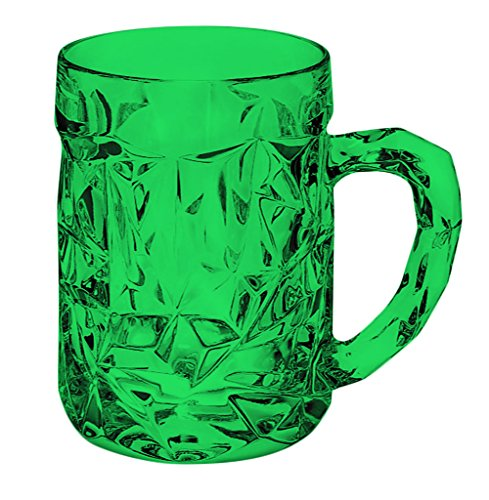 Tiffany & Co Rock cut Beer Mug - Full Color Emerald Green - Additional Vibrant Colors Available by TableTop - Co Color And Tiffany