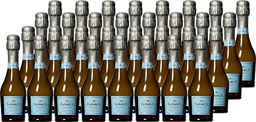 La Marca DOC Veneto Prosecco Sparkling Wine Mini Bottles, 24 x 187 ml