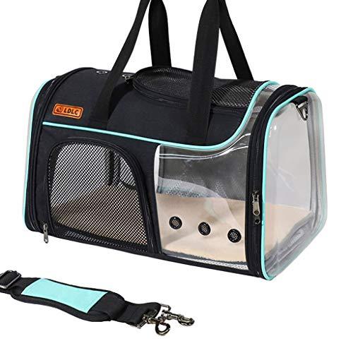 Incdnn Transportbox für Haustiere, weiche Seiten, zusammenklappbar, für kleine und mittelgroße Welpen und Katzen
