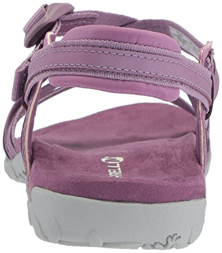 Merrell Womens/Ladies Terran Ari Lattice Cushioned Leather Sandals multicolor/fantasía (Very Grape)