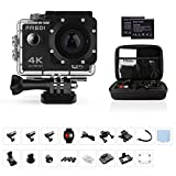 FREDI Action Camera 4K WIFI Sports Action Camera Ultra HD Waterproof DV Camcorder 16MP 170 Degree Wide Angle with Portable Package(without SD card) FREDI