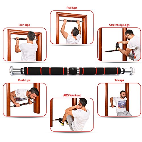 Doorway Home Pull Up Or Chin Up Bar With Comfort Grips