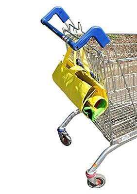 Reusable Grocery Cart Bags - 4 Piece Set of reusable shopping bags - Compact, Eco-friendly 'green bag', Strong Shopping Bags
