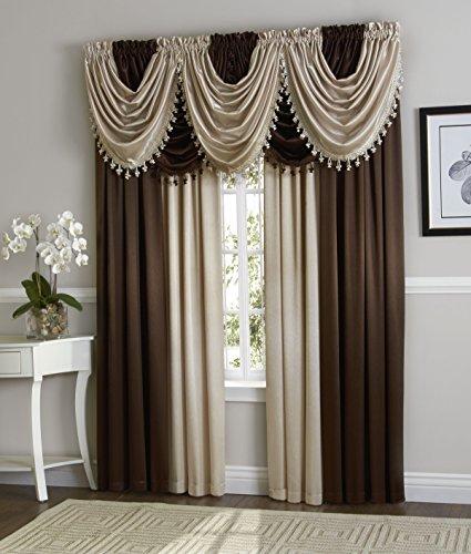 GoodGram Ultra Luxurious Complete Hyatt Window Curtain &
