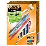 BIC Round Stic Xtra Life Ballpoint Pens, Medium