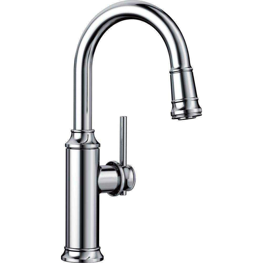 Blanco 442512 Empressa 1.5 GPM Pull-Down Bar Faucet, Chrome