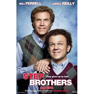 Step Brothers Will Ferrell John C. Reilly Movie Poster