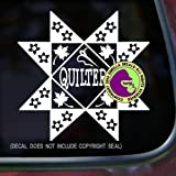 quilt car decals - The Gorilla Farm Quilter Quilting Pattern Fabric Needle Hobby Vinyl Decal Sticker Kitchen Car Window Laptop Wall Sign White
