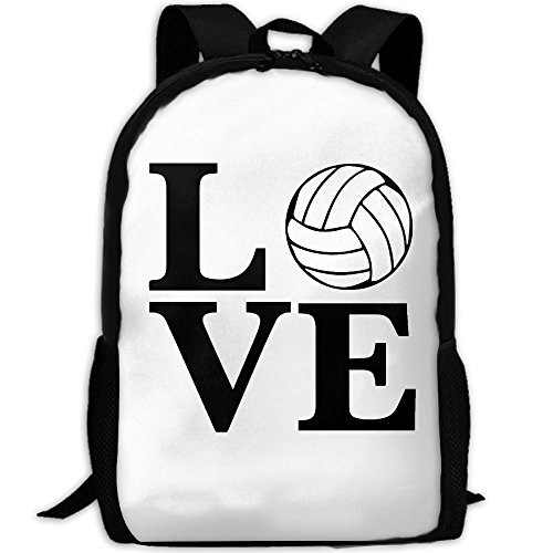 ZQBAAD I Love Volleyball Luxury Print Men And Women's Travel Knapsack by ZQBAAD