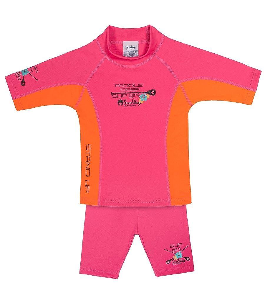 Sunway Girls Short Top Shorts Swimsuit Set Swimwear UV Sun Protective UPF 50+