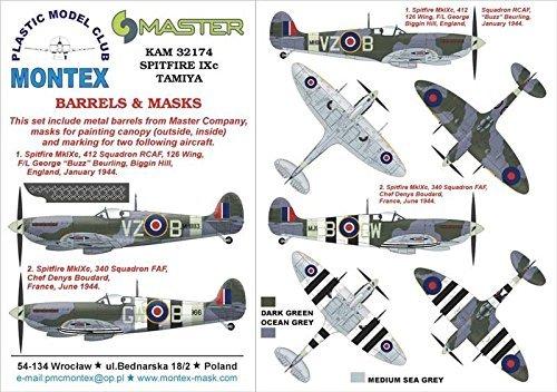 Montex KAM 1:32 Spitfire IX for Tamiya Mask + Metal Part KAM32174 B01G8LDAJ2