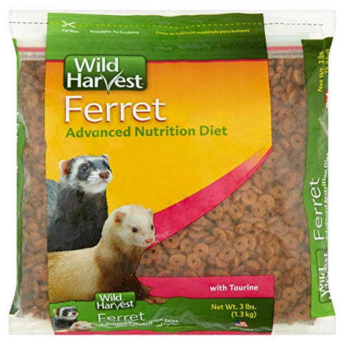 (PACK OF 5 - Wild Harvest Advanced Nutrition Diet Ferret Food, 3 lbs)