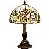 Tiffany style table reading lamp light 18 inch tall Hummingbird Glass shade E26