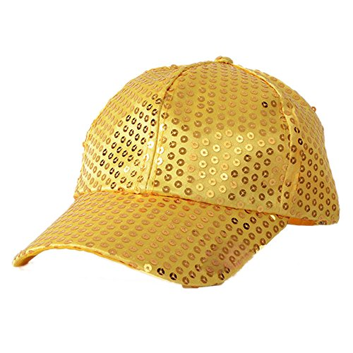 Braceus Glitter Sequins Baseball Caps Snapback Hats Party Outdoor Adjustable Hat Men