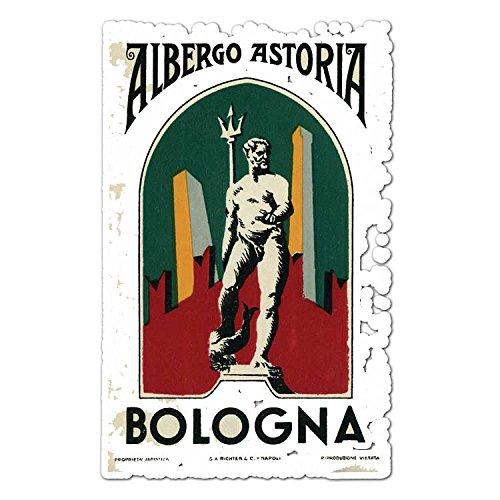 Albergo Astoria Bologna - Vintage Italy Travel Label - Vinyl Decal Sticker - 3.75