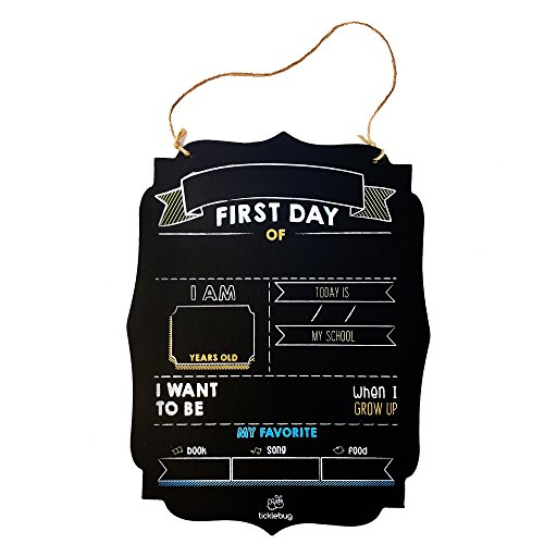 Fayfaire First Day of School Chalkboard   Back to School Sign for 1st Day of School Stats   Milestone Photo Prop -