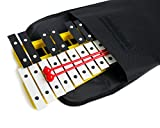 ProKussion School Series 27 Key Yellow Glockenspiel Xylophone with Deluxe Soft Carry Case