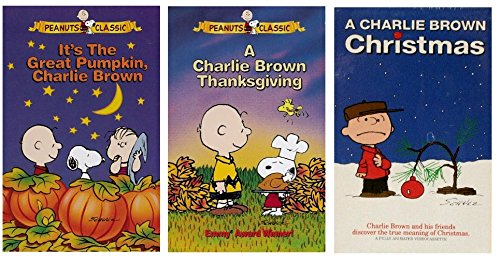 A Charlie Brown Christmas Vhs.Amazon Com Charlie Brown Vhs Collection Movies Tv