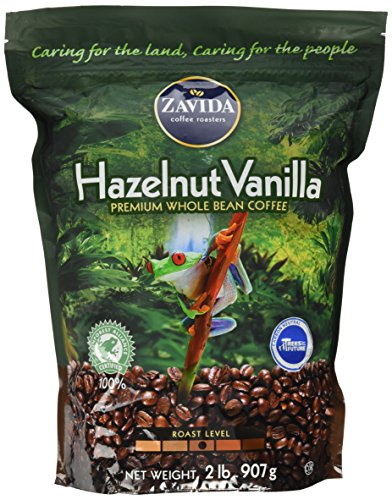 Zavida Hazelnut Vanilla Whole Bean (32 OZ), 32 Ounce