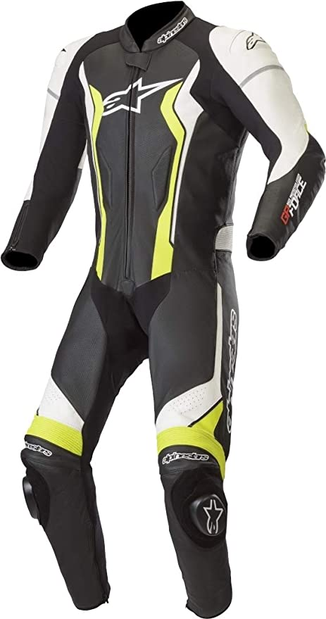 Alpinestars Mono Cuero Moto Gp Force Negro-Blanco-Amarillo ...