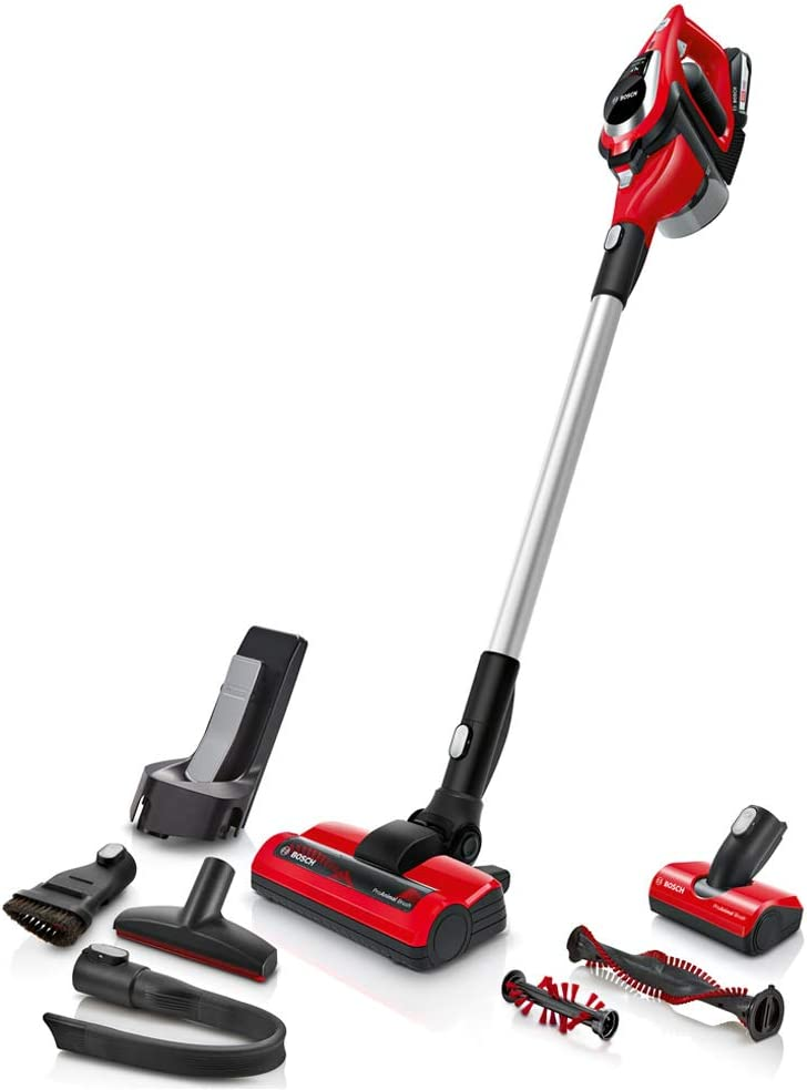 Bosch Unlimited Zooo Aspirador sin Cables, 2 Velocidades, Rojo ...
