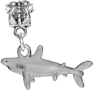 Shark Great White Mako Beach Aquarium Dangle Charm for European Slide Bracelets Fashion Jewelry for Women Man