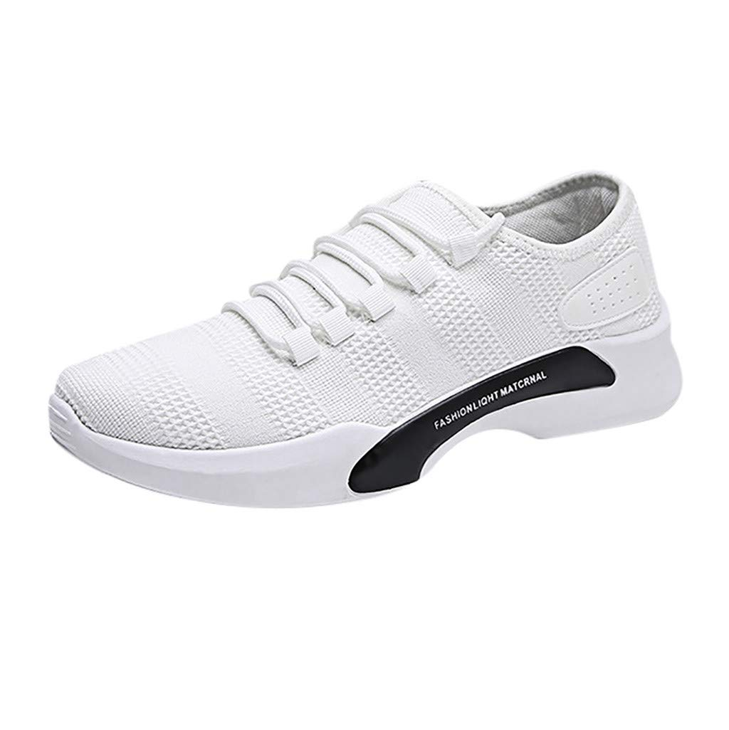 Men's Casual Walking Shoes - Summer Lightweight Breathable Mesh Sneakers Athletic Jogging Running Shoe Size US 7-9.5 (White, US:7)