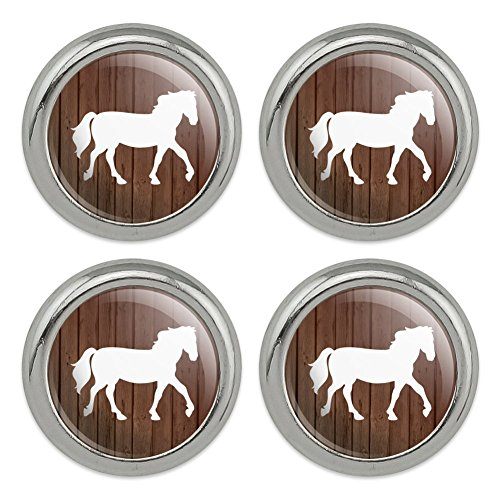 Horse Silhouette Cowboy Western Metal Craft Sewing Novelty Buttons - Set of 4 ()